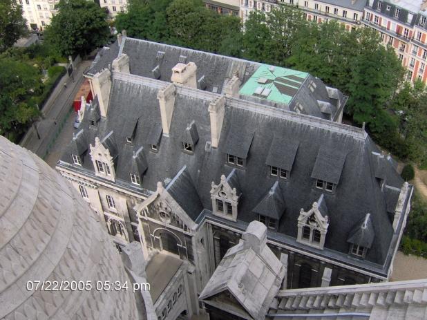 Sacre Coeur tetejéről