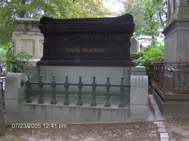 Delacroix síremléke a Pere Lachaise-ben