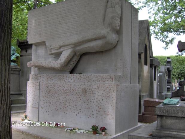 Oscar Wilde síremléke a Pere Lachaise-ben