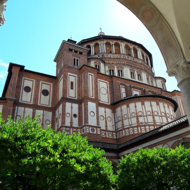 Santa Maria Delle Grazie, a kerengő felől nézve