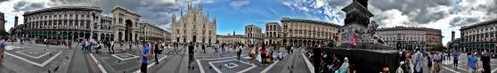 Panoráma, Milánó, Dóm tér
